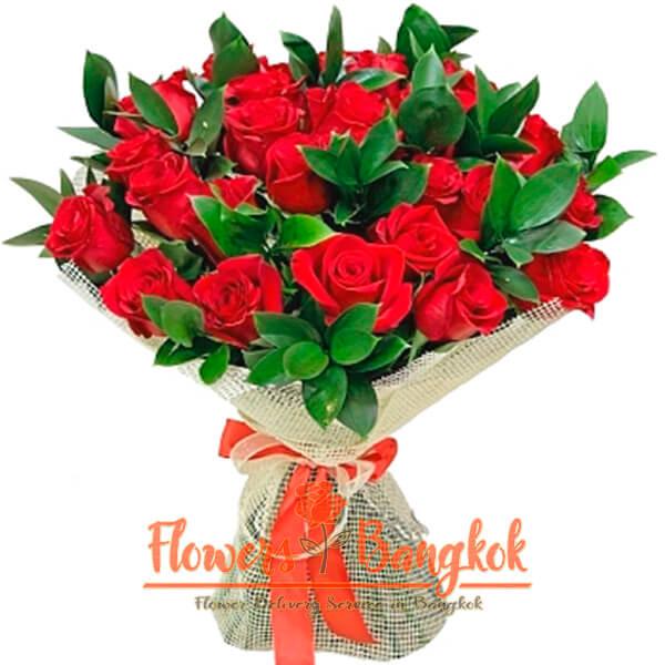 Flowers-Bangkok - 24 Red Roses new