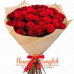 Flowers-Bangkok 50 Red Roses new