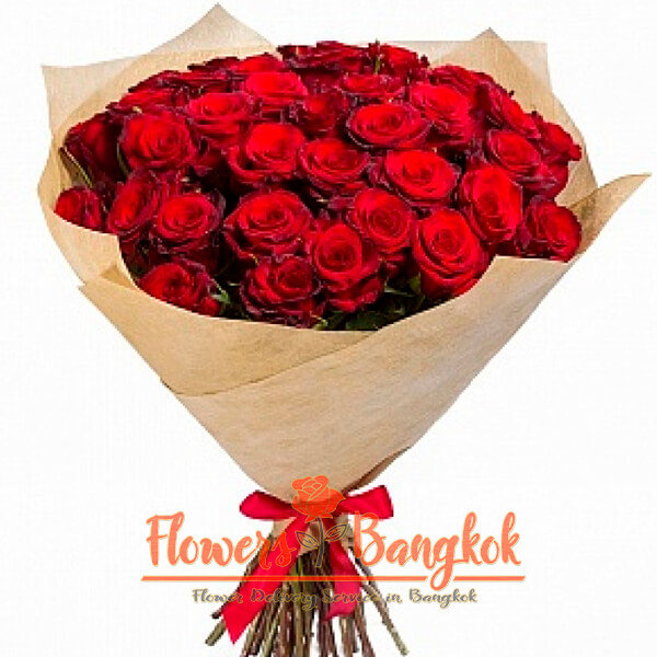 Flowers-Bangkok 50 Red Roses new