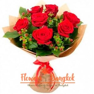 Flowers-Bangkok - 7 Red Roses Bouquet