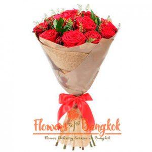 Flowers-Bangkok - 15 Red Roses new
