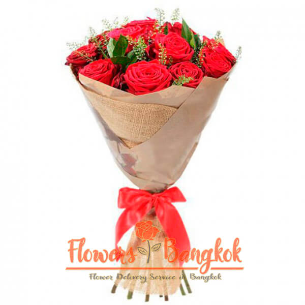 Flowers-Bangkok - 15 Red Roses new