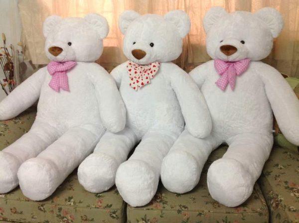 White Teddy Bear 120 cm - Flowers-Bangkok