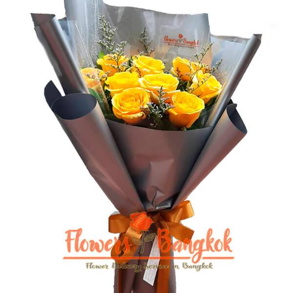 Flowers-Bangkok - 10 Yellow roses