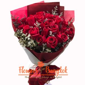 Flowers-Bangkok - 18 Red Roses bouquet new