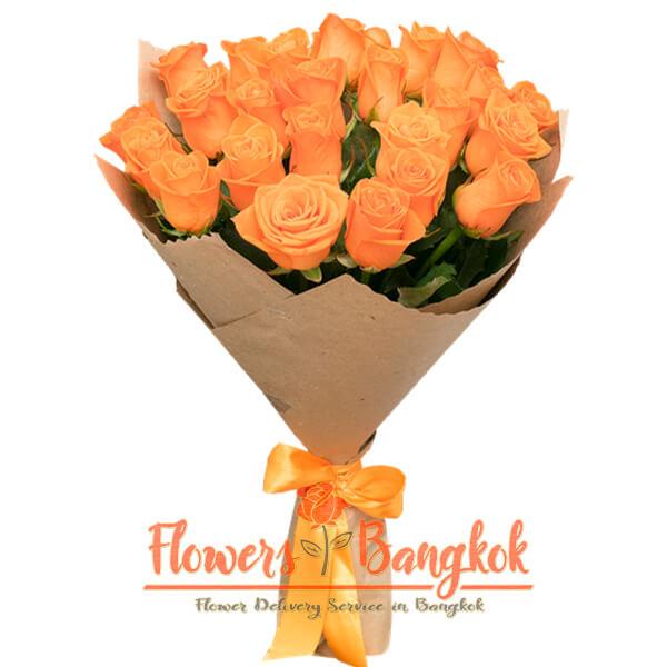 Flowers-Bangkok - 21 Orange roses new