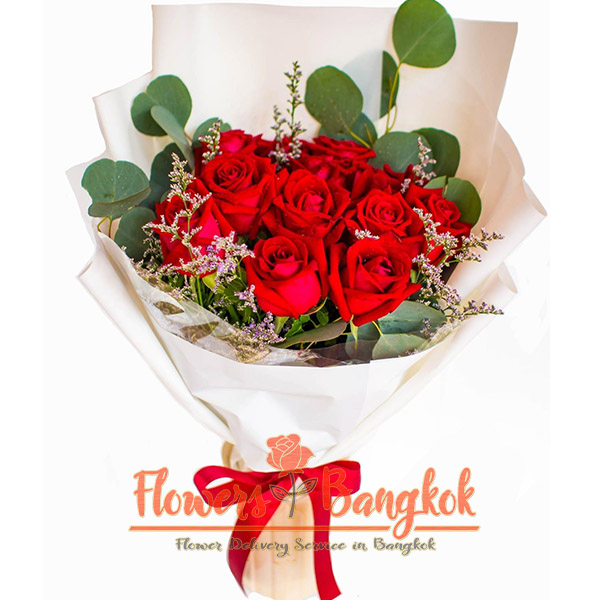 10 Red Roses - Same day flower delivery in Bangkok