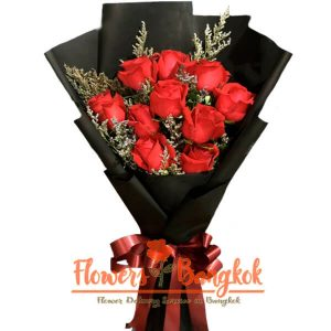 Flowers-Bangkok - 10 Red Roses Bouquet new