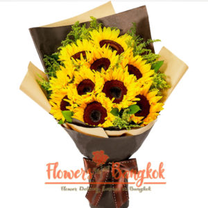 Flowers-Bangkok - 10 Sunflowers Bouquet