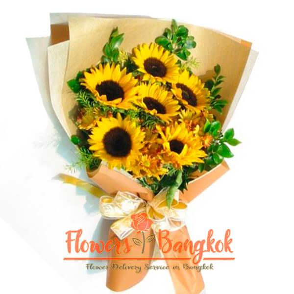 Flowers-Bangkok - 6 Sunflowers bouquet