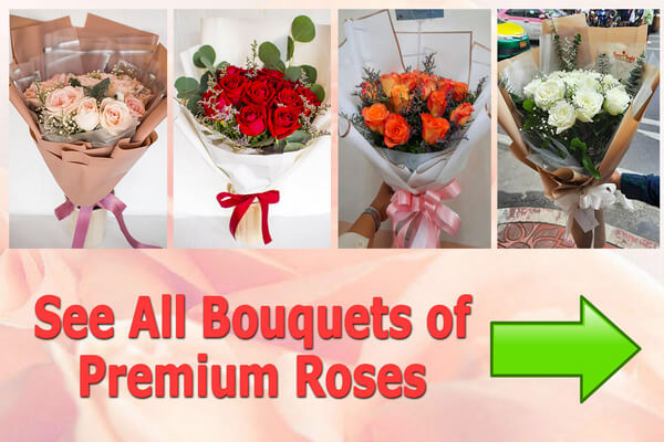 All bouquets of Premium Roses - Flowers-Bangkok