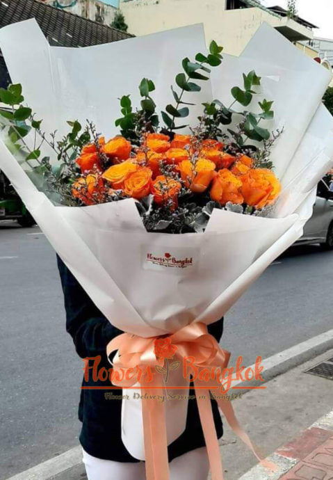 20 Orange Roses - Flower delivery in Bangkok