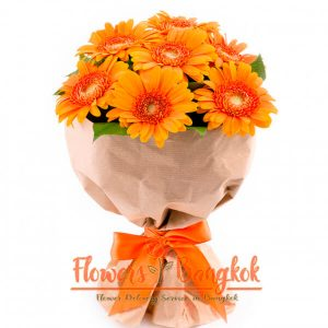 7 Orange Gerberas from Flowers-Bangkok (Flower Delivery in Bangkok)