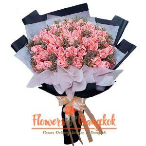 Flowers-Bangkok - 50 Money Roses (10 000 THB)