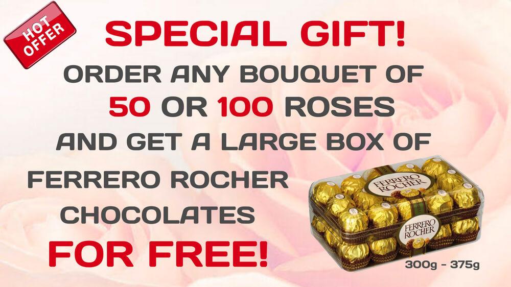 FERRERO ROCHER FOR FREE - Flower delivery Bangkok