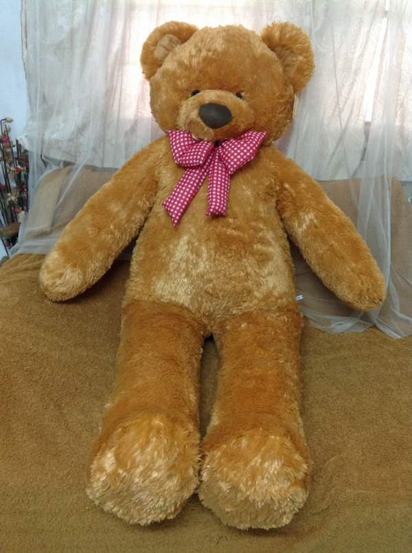 Mustard-colored Teddy Bear 120 cm - Flower delivery in Bangkok