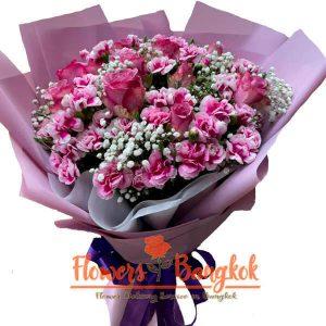 Flowers-Bangkok - Purple Passion bouquet