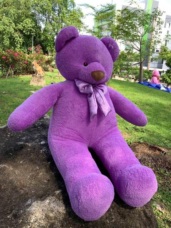 Lilac Teddy Bear 140 cm - Flower Delivery Bangkok