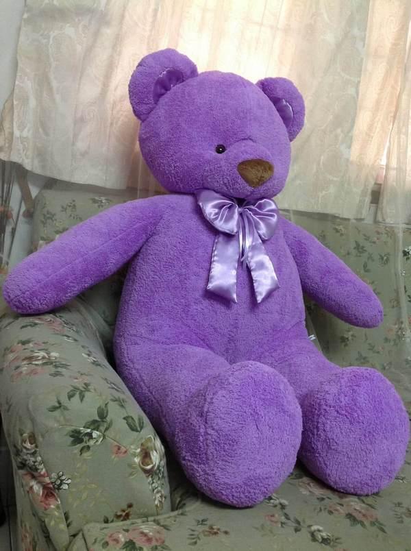 Lilac Teddy Bear 4 - Flower Delivery Bangkok