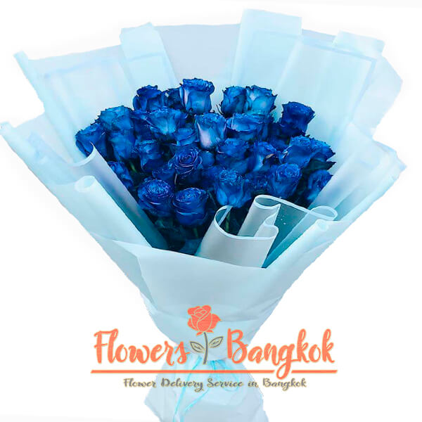 30 Blue Roses - Flowers Delivery Bangkok