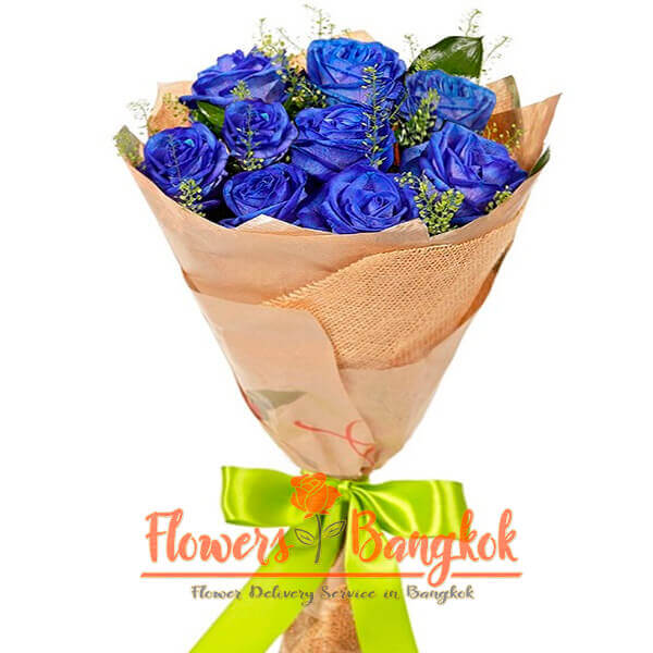 9 Blue Roses - Flowers Delivery Bangkok