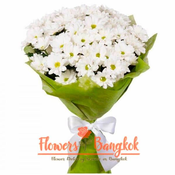 Flowers-Bangkok - Bouquet of White Chrysanthemums