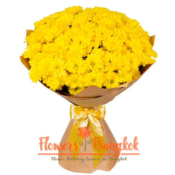 Flowers-Bangkok - Bouquet of Yellow Chrysanthemums bouquet